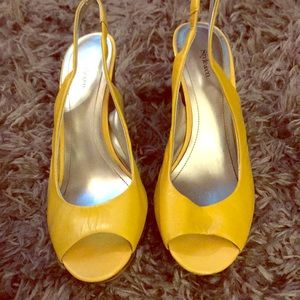 Style&CO yellow sling backs